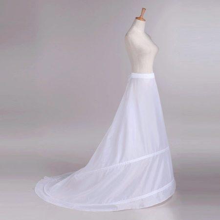 Кринолин для свадебного платья со шлейфом с одним  кольцом