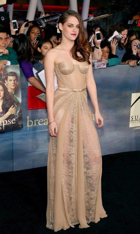 Вечернее откровенное платье Кристен Стюарт