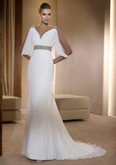 Свадебное платье в греческом стиле с поясом