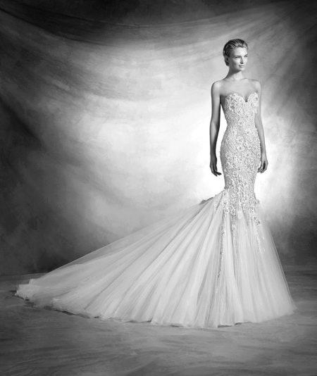 Свадебное платье русалка кружевное от Проновиас