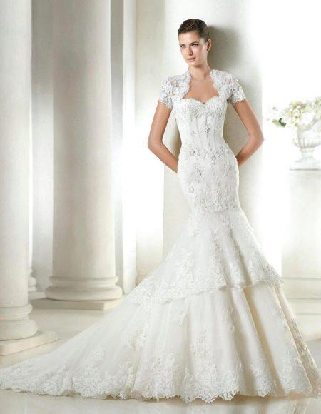 Свадебное платье из коллекции Costura от San Patrick из кружева