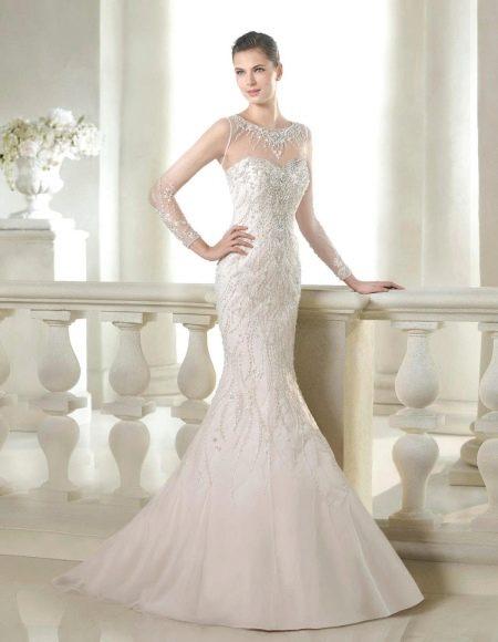 Свадебное платье из коллекции Glamour от San Patrick со стразами