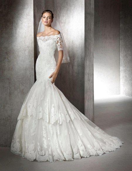 Кружевное свадебное платье русалка от Сан Патрик