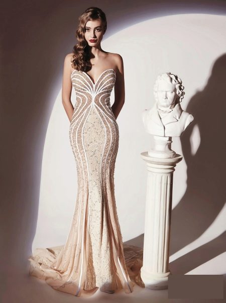 Облегающее сексуальное вечернее платье
