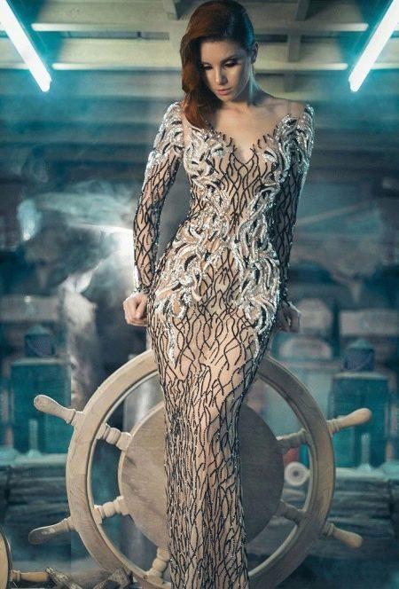 Сексуальное облегающее вечернее платье