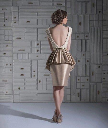 Сексуальное вечернее платье с открытой спиной короткое