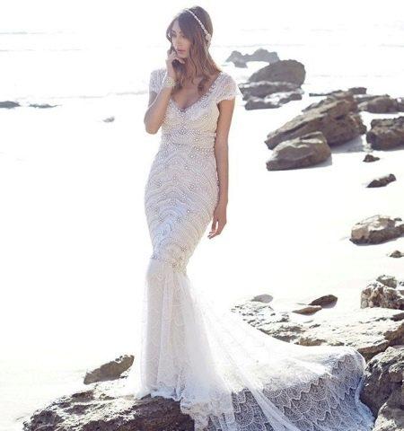 Свадебное платье русалка от Анны Кэмпбелл