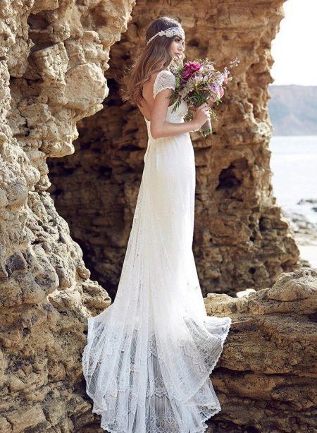 Свадебное платье белое в стиле бохо