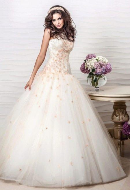 Свадебное платье от Оксаны Мухи с цветным декором