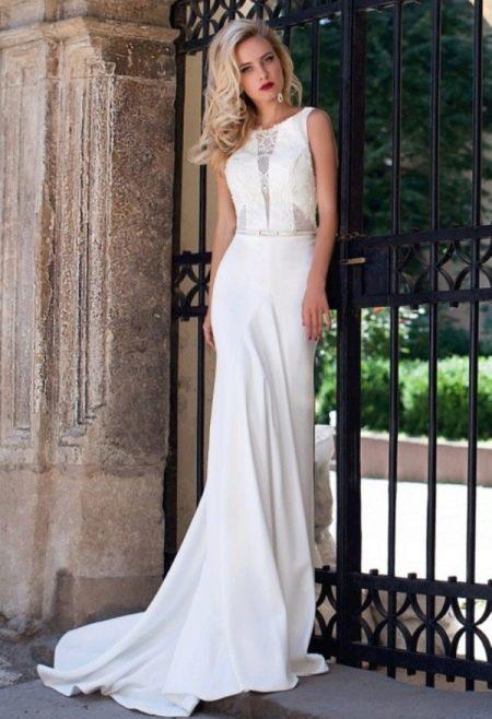 Свадебное платье прямое от Оксаны Мухи