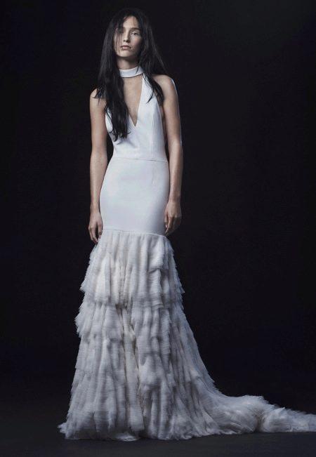 Свадебное платье от Веры Вонг 2016 с воланами