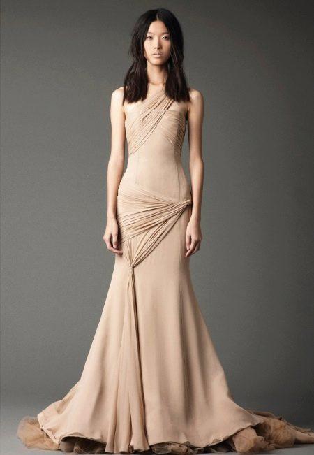 Свадебное платье от Веры Вонг с драпировкой