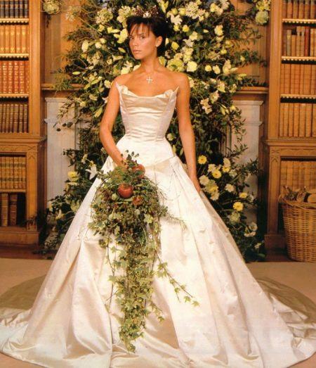 Свадебное платье Виктории Бэкхем от Веры Вонг