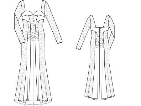 Эскиз вечернего платья в пол