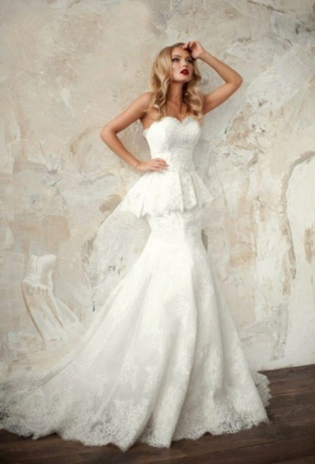 Свадебное платье от Ange Etoiles русалка с баской