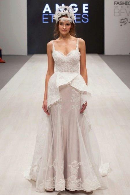 Свадебное платье от Ange Etoiles с баской