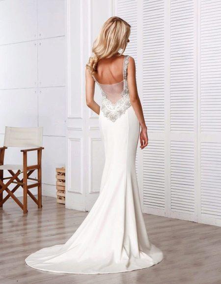 Свадебное платье с вырезом на спине от Anne-Mariee