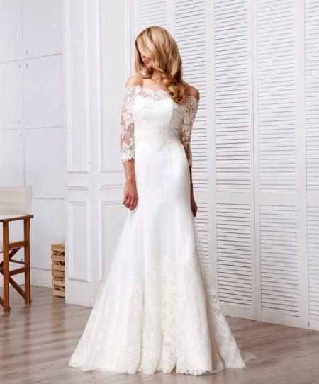 Свадебное платье от Anne-Mariee из коллекции 2016 с рукавами