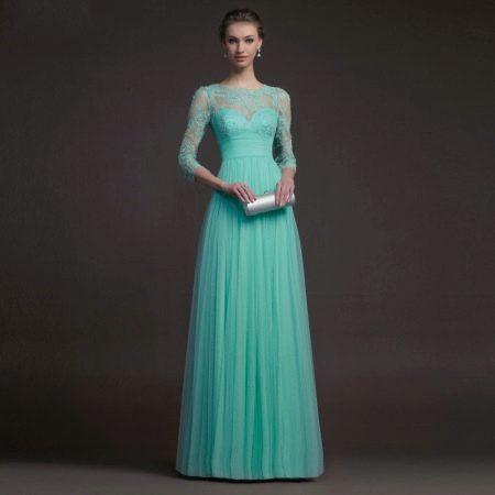 0e1956452b2 Бирюзовое платье  вечернее