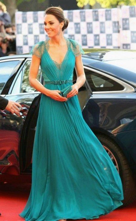 Платье темного бирюзового цвета