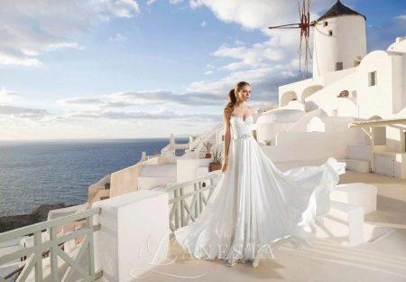 Свадебное платье от Lanesta а-силуэта