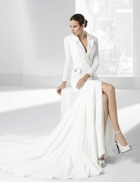 Свадебное платье от Franc Sarabia с разрезом