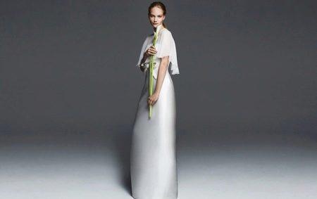 Свадебное платье от Max Mara а-силуэта