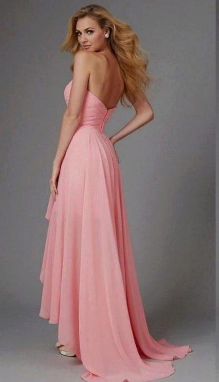 Лилово-розовое коралловое платье