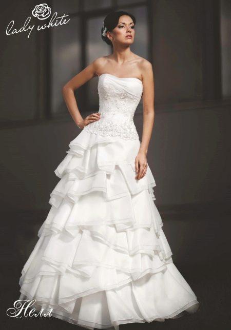 Свадебное платье из коллекции Enigma от Lady White а-образное