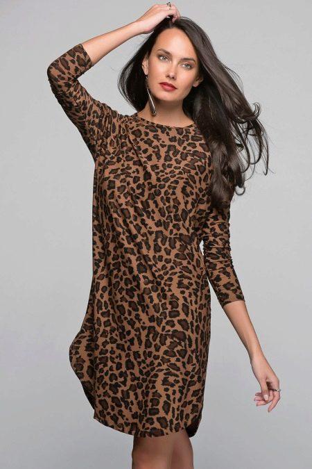 Платье с леопардовым принтом для полных