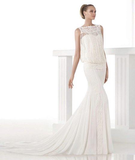 Свадебное платье со свободным верхом