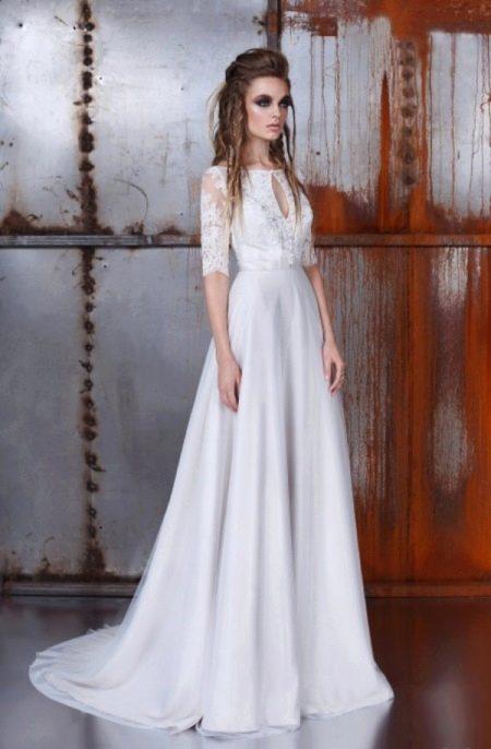 Свадебное платье от Энжи Ателье а-силуэта