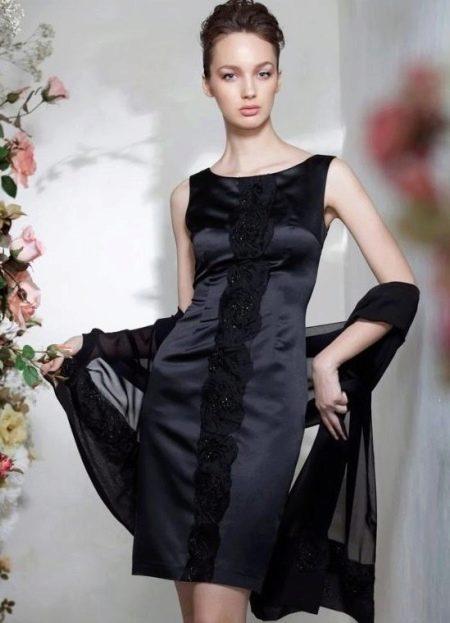 Вечернее платье короткое с накидкой