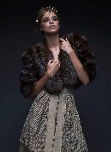 Меховая накидка на вечернее платье