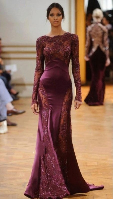 830f838c758 Вечернее платье цвета марсала