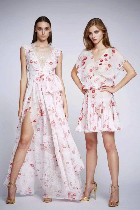 Красивые шифоновые платья с цветочным принтом