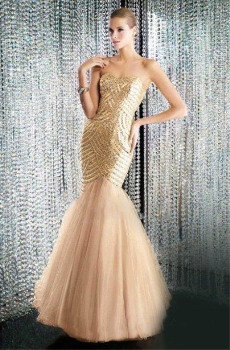 Золотое платье русалка