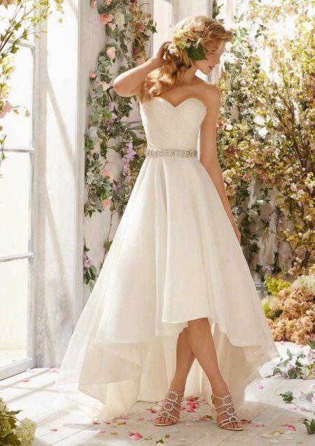 Свадебное платье от бренда Mori Lee хай-лоу