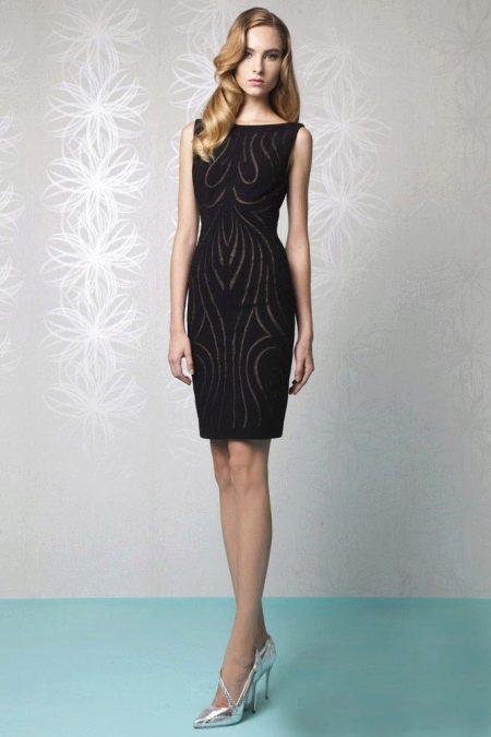 49e91e0095a8632 Вечернее платье миди до колена: модели, с рукавами, пышной юбкой (71 ...