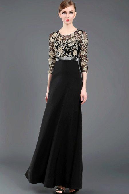 Черное вечернее платье из китая