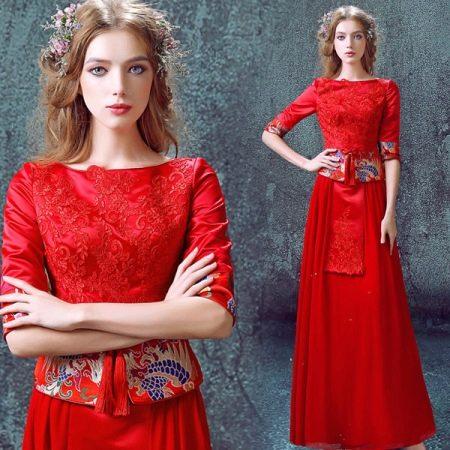 Вечернее платье красное из Китая