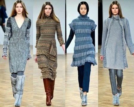 Длина вязаного платья