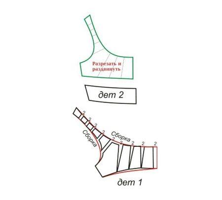 Моделирование лифа вечернего платья русалка