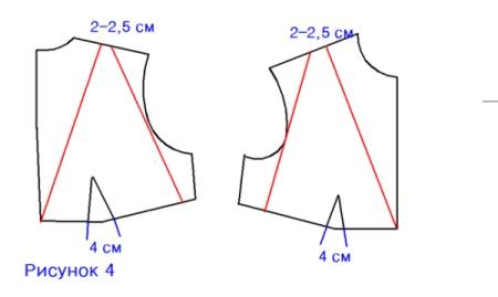 Моделирование лифа в платеье с глубоким декольте