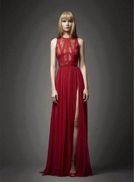 Красное вечернее платье от Эли Сааб