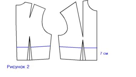 Моделирование пояса в вечернем платье с глубоким декольте