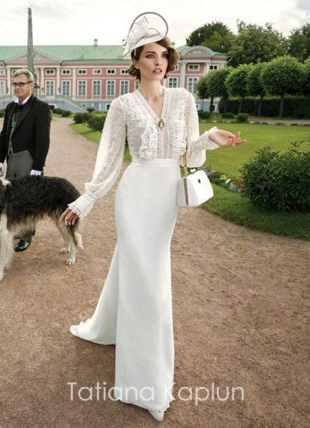 Свадебное платье с рюшами от Татьяны Каплун