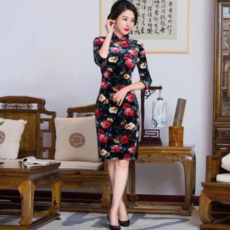 Платье чеонгсам