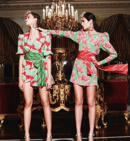 Фасоны цветных платьев