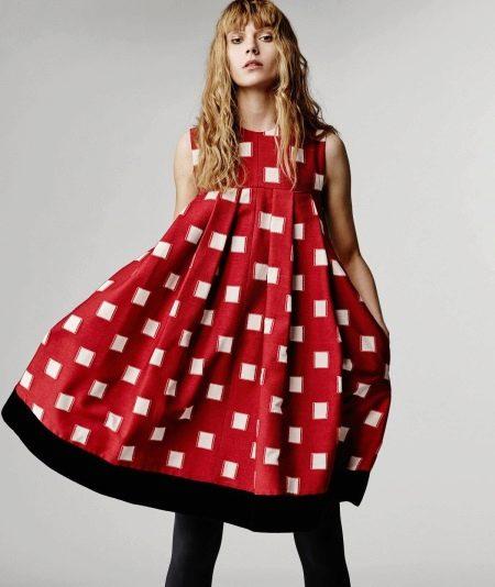 Платье-мешок цветное короткое
